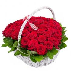 "Basket ""51 red roses"""