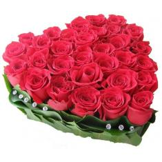 Heart 51 Red Roses