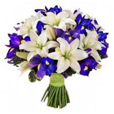 "Bouquet ""Lilies and irises"""