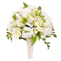 "Wedding Bouquet ""Colour Such As Snow"""