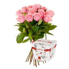 "Bouquet ""15 Pink Roses"""