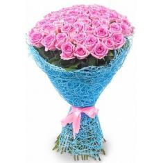 "Bouquet ""75 pink roses"""