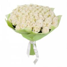 "Bouquet ""77 White Roses"""