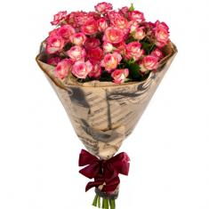 "Bouquet ""9 pink spray roses"""