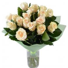 "Bouquet ""17 of Cream roses"""