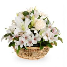 "Basket ""White charm"""