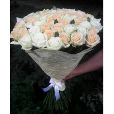 "Bouquet ""41 white-cream rose"""