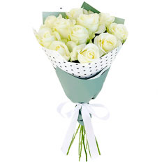 "Bouquet ""11 white roses"""