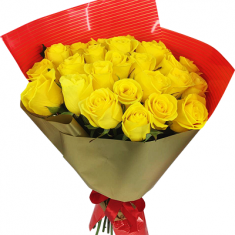 "Bouquet ""25 Yellow Roses"""
