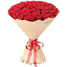 "Bouquet ""51 Red rose Prestige"""