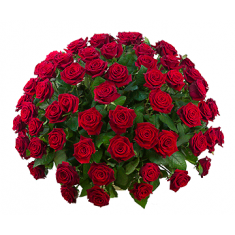 "Basket ""101 red rose"""