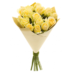 "Bouquet ""15 Cream roses"""