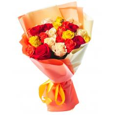 "Bouquet ""25 colorful roses"""