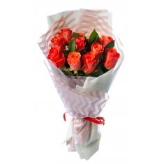 "Bouquet ""11 Orange roses"""