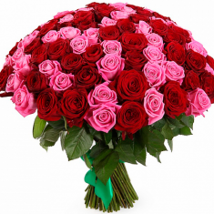 "Bouquet ""101 red-pink rose"""