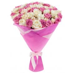 "Bouquet ""51 pink and white rose"""