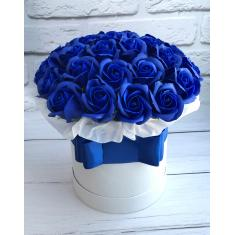 "Box of soap roses ""Blue frost"""