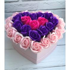 "Box of soap roses ""Formula of love"""