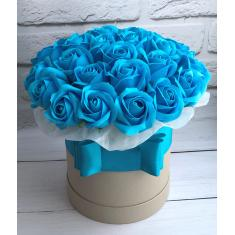 "Box of soap roses ""Blue lagoon"""
