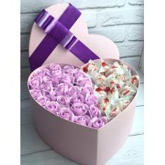 "Box of soap roses ""Purple heart"""