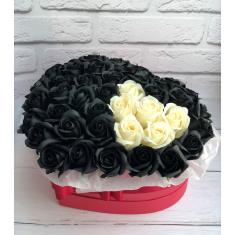 "Box of soap roses ""Black love"""