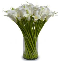 "Bouquet ""25 white Callas"""