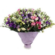 "Bouquet ""101 colorful eustoma"""