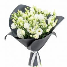 "Bouquet ""11 white eustomas"""