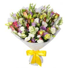 "Bouquet ""35 colorful eustomas"""