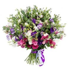 "Bouquet ""75 colorful eustomas"""