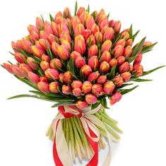 "Bouquet ""101 red Tulip"""