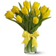 "Bouquet ""11 yellow tulips"""