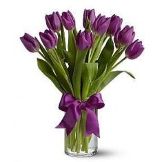 "Bouquet ""11 purple tulips"""