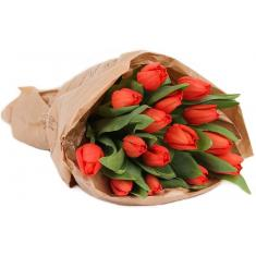 "Bouquet ""15 red tulips"""