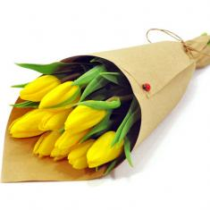 "Bouquet ""9 yellow tulips"""