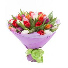"Bouquet ""45 colored tulips"""