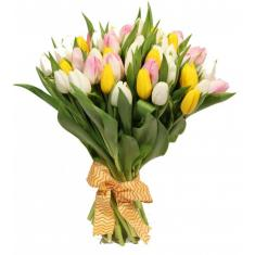 "Bouquet ""35 mix tulips"""