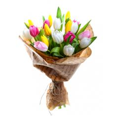 "Bouquet ""19 colored tulips"""