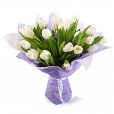 "Bouquet ""19 white tulips"""