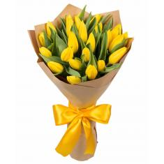 "Bouquet ""25 yellow tulips"""