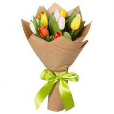 "Bouquet ""11 colored tulips"""