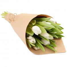 "Bouquet ""9 white tulips"""
