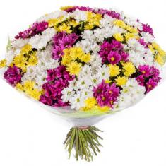 "Bouquet ""51 colorful Chrysanthemum"""
