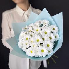 "Bouquet ""7 white chrysanthemums"""