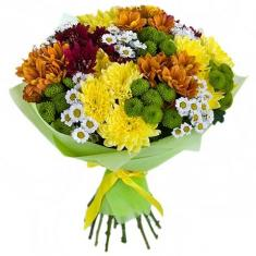"Bouquet ""19 colorful Chrysanthemums"""