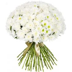 "Bouquet ""51 white chrysanthemum"""