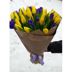 "Bouquet ""Tulips-Irises"""