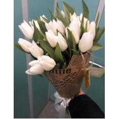 "Bouquet ""21 white Tulip"""