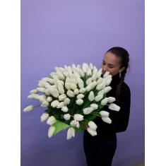 "Bouquet ""101 white Tulip"""