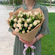"""Bouquet """"9 cream spray roses"""""""